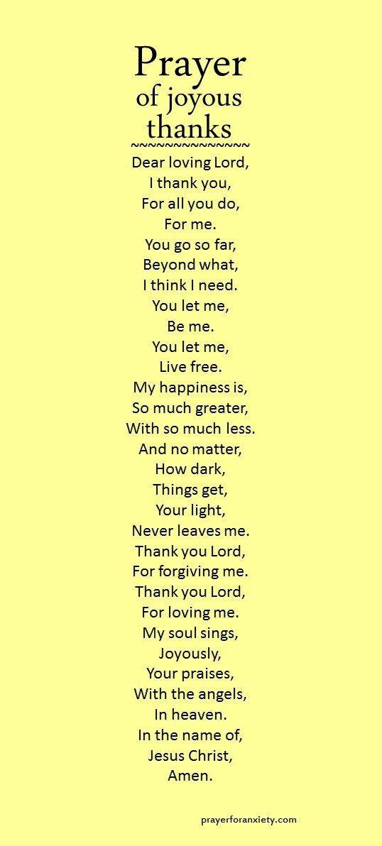 Prayer of joyous thanks Pinterest@Sagine_1992 Sagine☀️