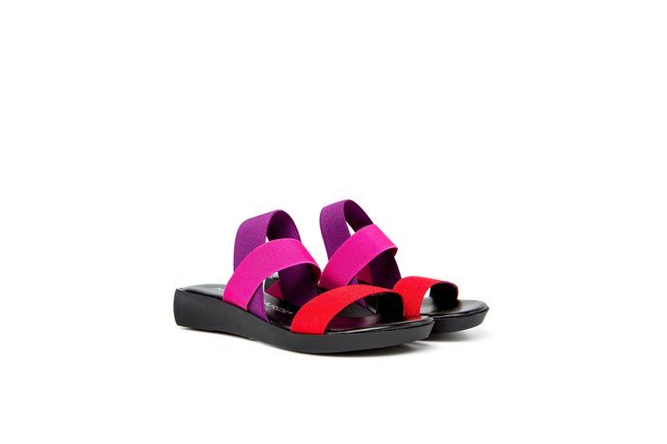 KETTY sandali elastici con mini zeppa color fucsia rosso viola KETTY stretch elastic sandals sporty in red fucsia violet http://shop.nrrapisardi.it/shop/ketty-sandali-stretch/