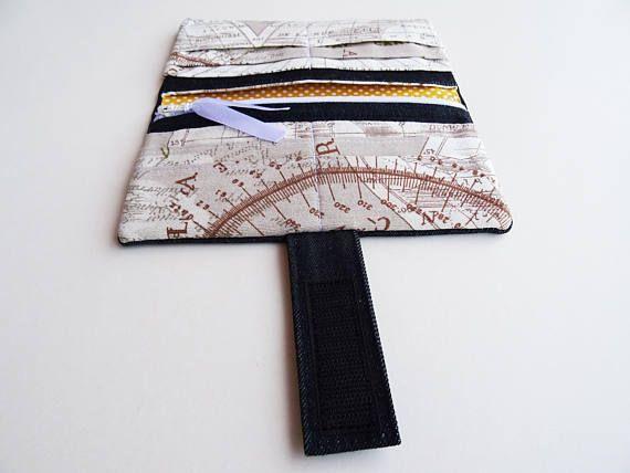 Travel Wallet Denim Fabric Wallet World Map Travel Fabric