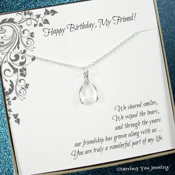 The 25 best birthday message for friend friendship ideas on friend birthday gift lucky charm necklace by starringyoujewelry giftsforfriends birthdaygiftsforfriends negle Images