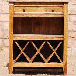Farmhouse Cube Wine Stackable Rack Liquor Storage Cabinet