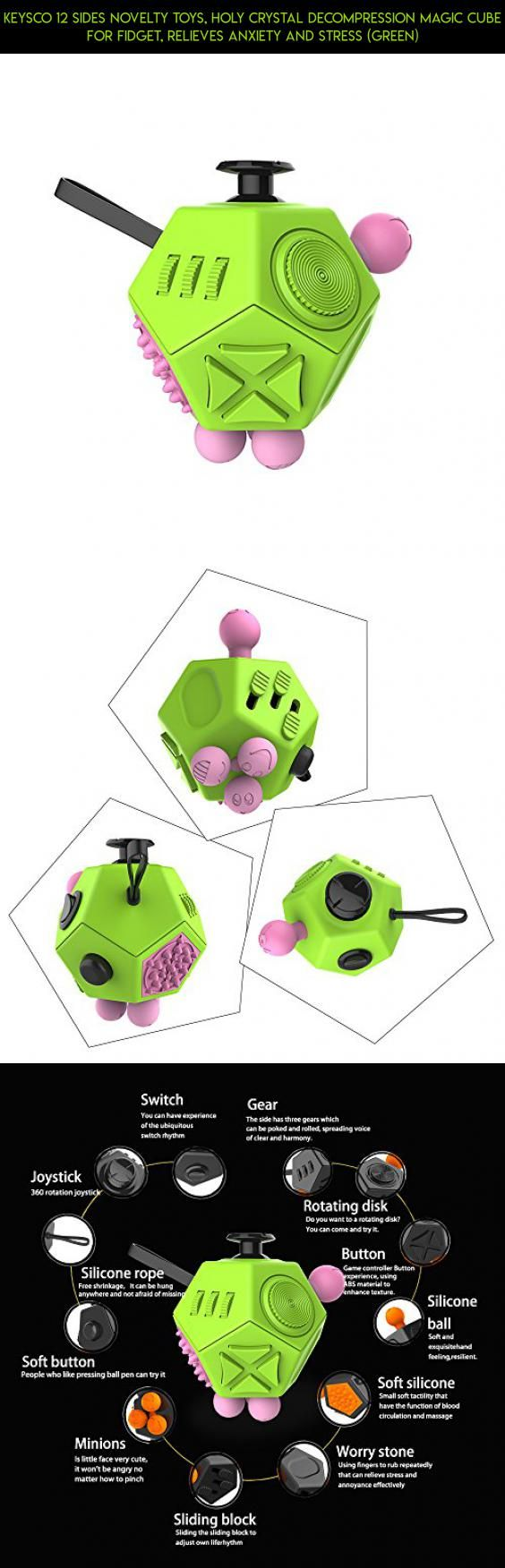 Keysco 12 Sides Novelty Toys, Holy Crystal Decompression Magic Cube For Fidget, Relieves Anxiety And Stress (Green) #tech #parts #technology #cube #kit #drone #fpv #plans #gadgets #fidget #shopping #racing #products #camera #keysco