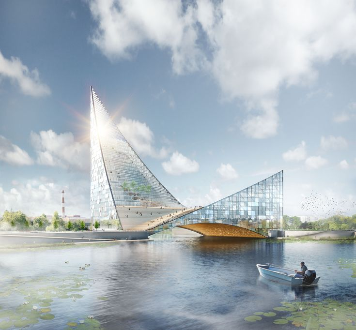Piarena Designs Sail-Inspired Congress Hall Spanning Over Russian River