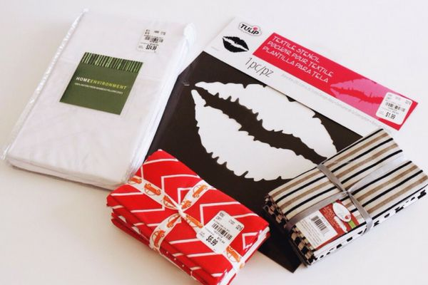 Supplies found at @tuesdaymorning Morning to make Pucker Up Pillows for your Valentine.