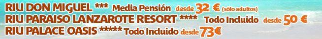 Hoteles Riu en el Puente de Mayo desde 32 eur.