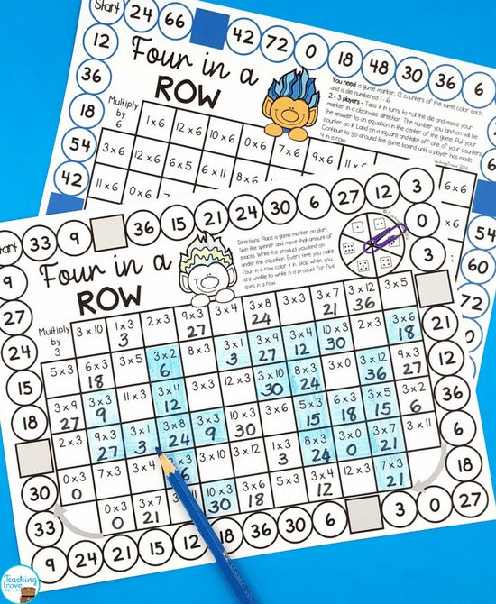 Have your 3rd grade class practice their multiplication facts from 0 times to 12 times with this set of multiplication games. Address each multiplication fact separately before mixing them up. Perfect for learning the times tables.