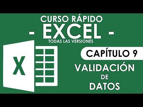 Word - Excel - Access y PowerPoint: Curso en Excel 2013 - Capitulo 9 (Validación de Da...