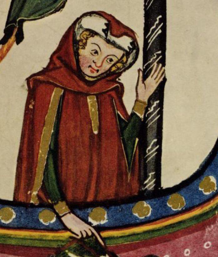Gardecoprs. Close up!  Codex Manesse 1300-1340(DE) 228 (Zürich, Switzerland)