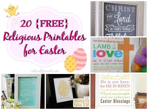 20 {FREE} Beautiful & Religious Printables for Easter - EAT. CRAFT. PARENT.