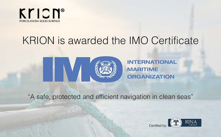 KRION successfully passes the rigorous testing for IMO Certification (International Maritime Organization) SOLID SURFACE