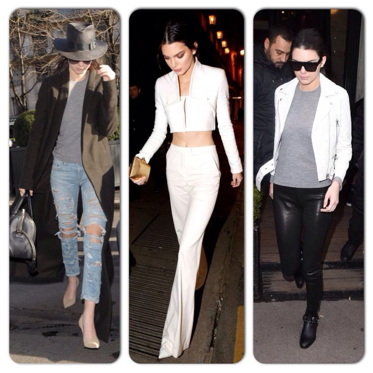 Kendall Jenner looked every bit the model while out and about in Paris, stomping through the streets.  More on www.boassy.com #kardashians #jenner