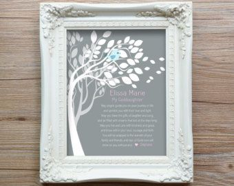 Personalized Baptism Gift from Godparents by WordsWorkPrints