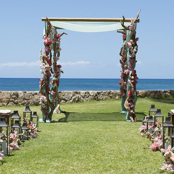 """Delight in the exquisite beauty and privacy of our Lanikuhonua venue, referred to by some as the """"gem"""" of wedding locations."""