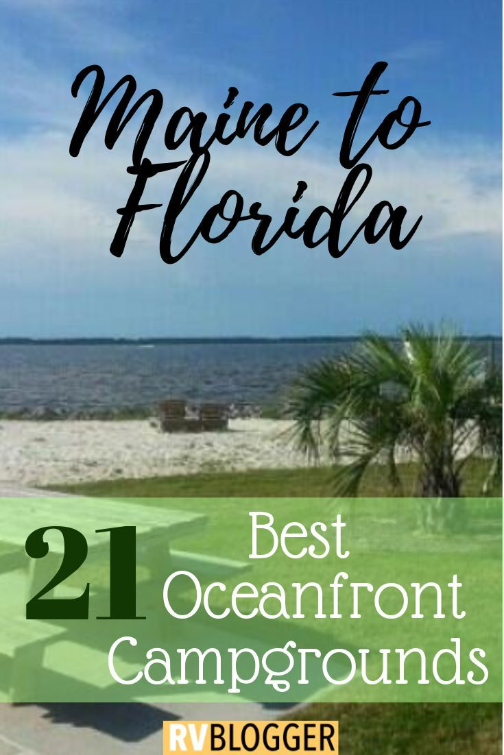 21 Best Rv Campgrounds On The Beach East Coast Guide Rvblogger Camping Locations Beach Camping Camping Destinations