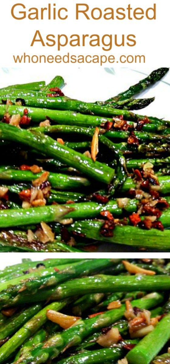 Looking for a no fail family friendly recipe for asparagus? Try Garlic Roasted Asparagus! Great addition to your holiday table, so amazing!