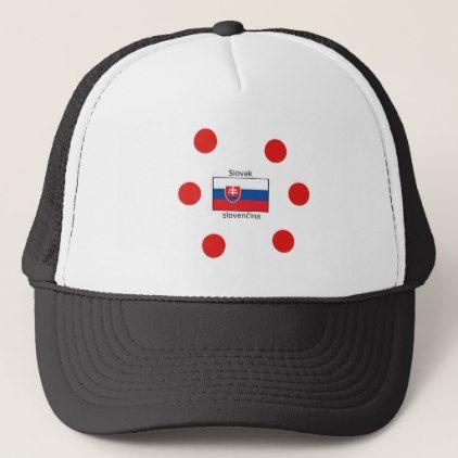 Slovak Language And Slovakia Flag Design Trucker Hat - accessories accessory gift idea stylish unique custom