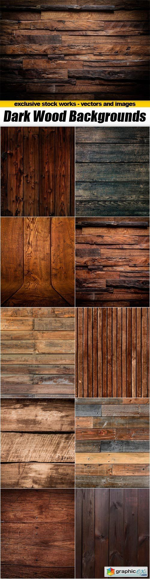 Dark Wood Backgrounds  10x JPEGs  stock images