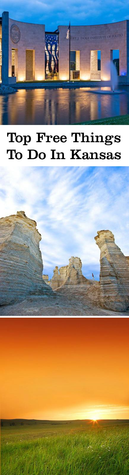 Explore free Kansas attractions including the state capitol, Tallgrass Prairie National Preserve, the Fort Scott National Historic Site and Monument Rocks.