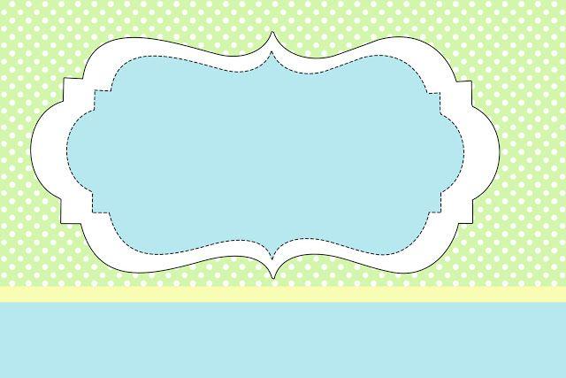 Poa y azul verde - Kit completo Con Los marcos párr Las Invitaciones, etiquetas para ellos golosinas, Y fotos de recuerdo! | Hacer ¡Nuestro parti ...