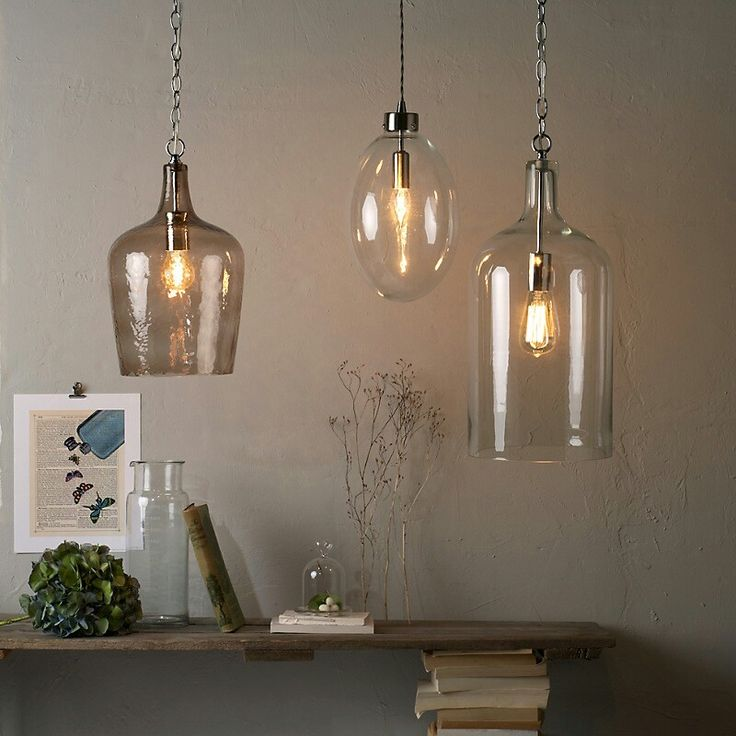 Contemporary clear glass bottle pendant lamps feature iron chain in chrome also clear glass bulb pendant lamp with chrome pendant holder a part of under