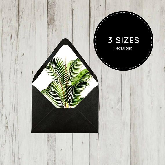Printable envelope liner template A1 A2 A7 digital file