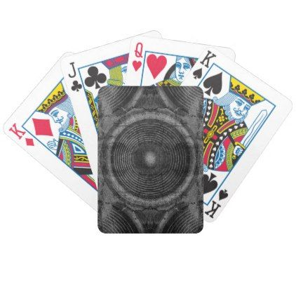 Black and white music speakers bicycle playing cards - black and white gifts unique special b&w style