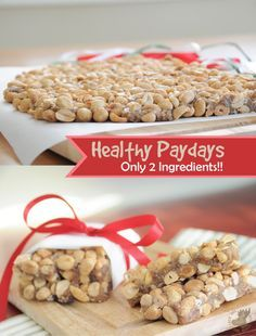 Healthy Paydays! ONLY TWO INGREDIENTS! {No-Cook, Easy, Vegan, Gluten-Free}