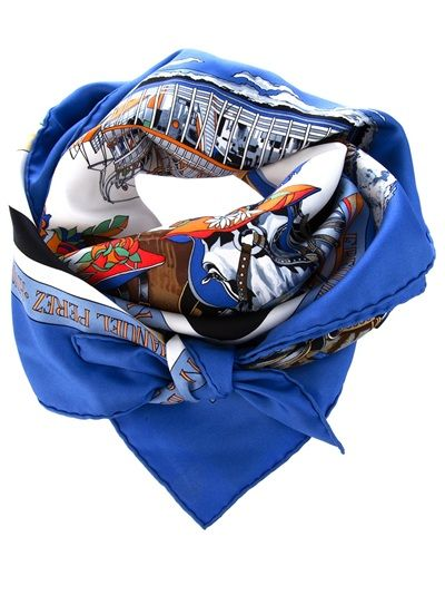HERMES Vintage Scarf is so much better because only poseurs have to stoop to acquire while the real deal just knicks it from Grandmère`s tirroir.