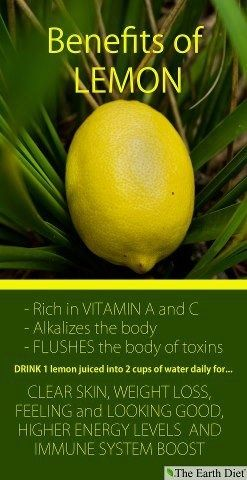 Lemon Water Detox For Clear Skin A large amount of vitamin C is found in lemons. Vitamin C is necessary to fight infections and speed up the healing process. These properties help keep #acne at bay. #skin