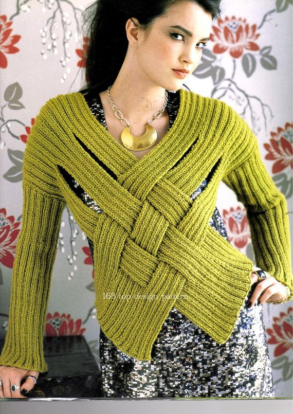 Knitting PDF pattern , Pullover Sweater knit pattern , #599