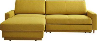 Diese <b>Wohnlandschaft </b>von VENDA ist das neue Schmuckstück in Ihrem Wohnzimmer. Bei einem Schenkelmaß von ca. 158 x 250 cm bietet das Möbel Platz für <b>4 Sitzflächen</b>. Hier machen Sie es sich mit Ihren Liebsten bequem. Gemütliches Beisammensein und erholsame Momente werden so zum Genuss. Dabei garantiert die <b>Kaltschaumpolsterung </b>besten Sitzkomfort. Der Bezug aus 100 % Polyester macht das Polstermöbel zum echten Hingucker. Dieser setzt dank des leuchtenden <b>Gelb</b>s…