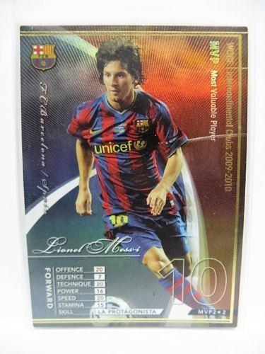 Panini-WCCF-2009-10-MVP-Lionel-Messi-Barcelona-refractor-insert-Argentina