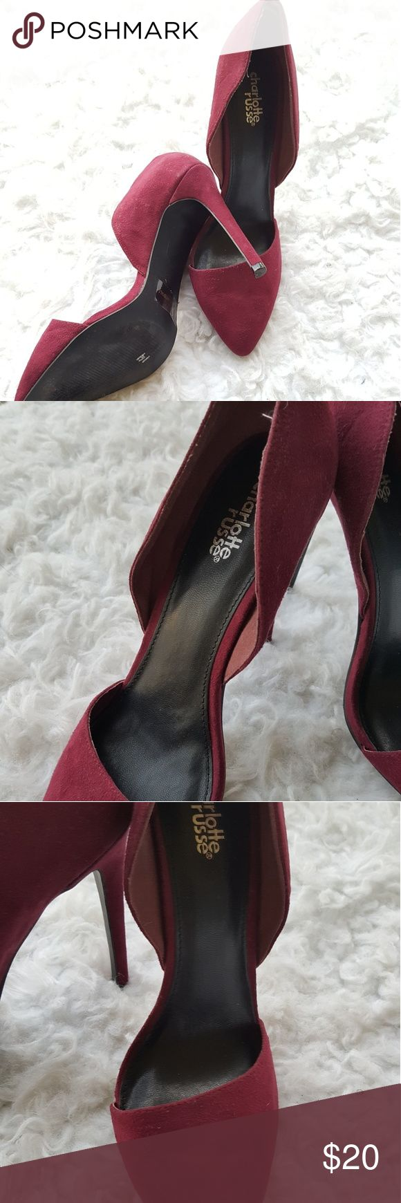 Charlotte Russe Heels Charlotte Russe Heels in great condition. A Maroone /Red Charlotte Russe Shoes Heels