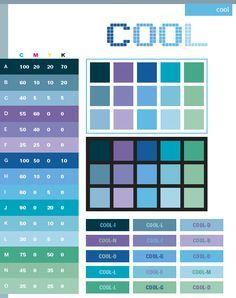 Color Schemes | Cool color schemes, color combinations, color palettes for print (CMYK ...