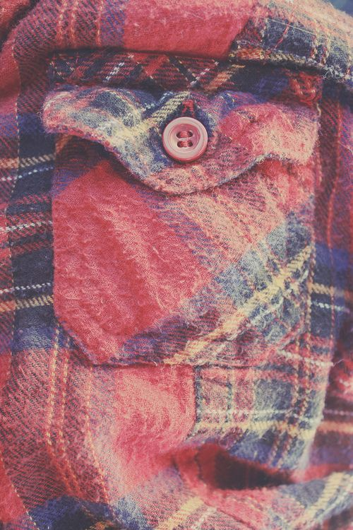 Plaid flannel is a must in Maine