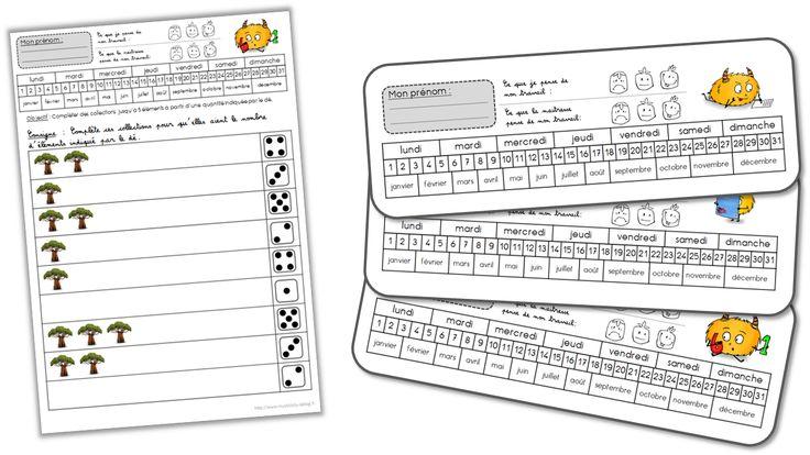 En-têtes pour les fiches de maternelle - Journal de bord d'une instit' débutante