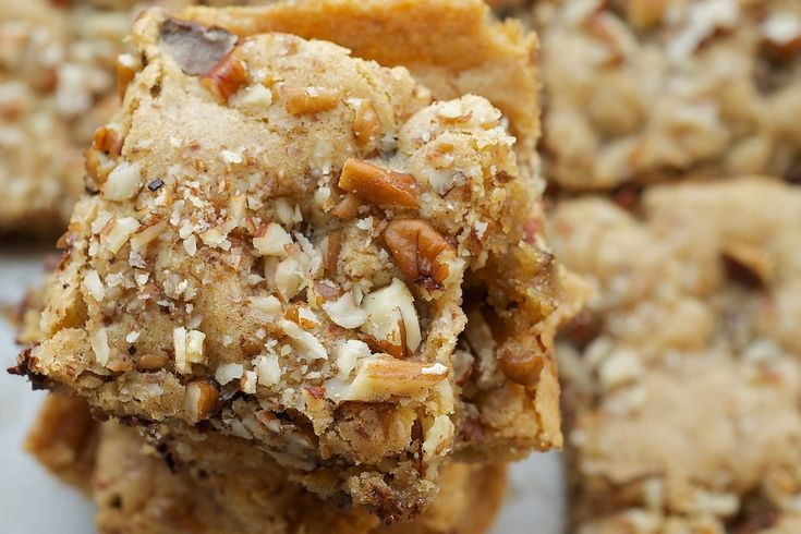 Toffee Nut Squares are sweet, nutty, delicious bars packed with plenty of brown sugar, nuts, and chocolate.