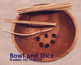 NativeTech: Native American Indian Games & Toys ~ Bowl & Dice Game