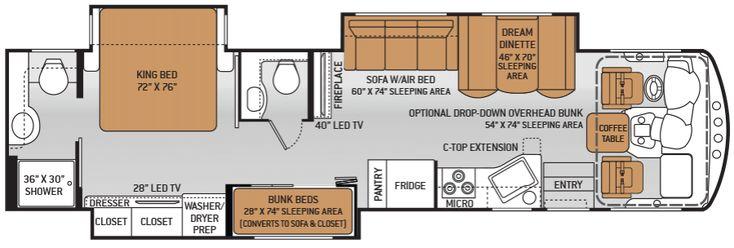 59 Best Interesting Camper Floor Plans Images On Pinterest