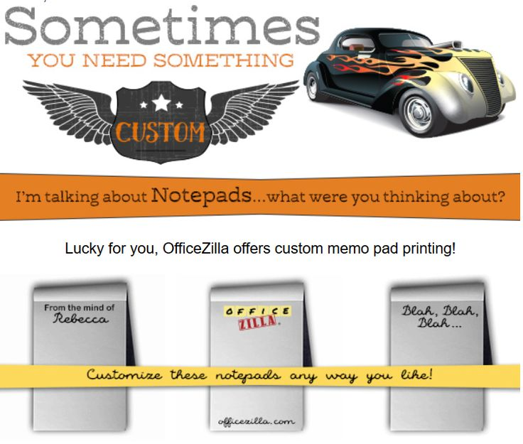 Customized Notepads   Great Gift Idea For A Coworker Or An Office Supply  Addict!