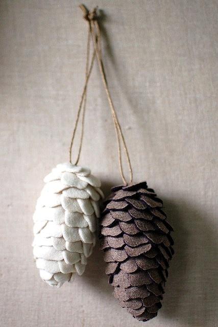 Pinecones with twine for the door wreath