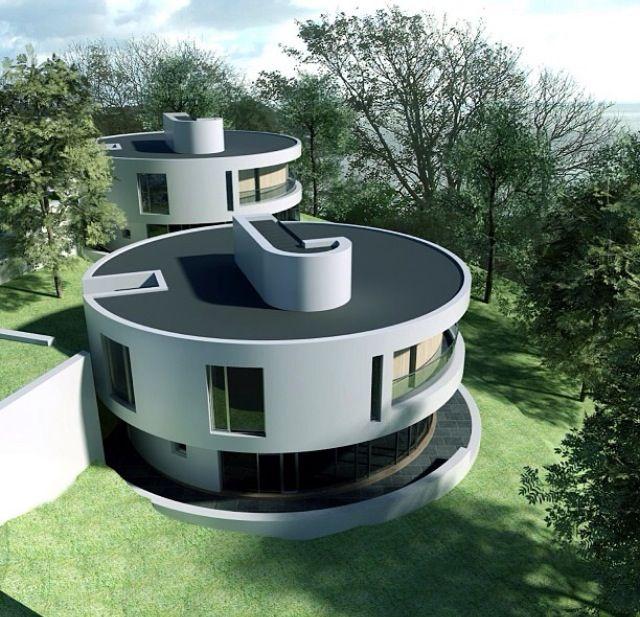 Circular Shaped House.