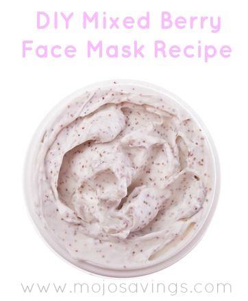 DIY Mixed Berry Face Mask Recipe