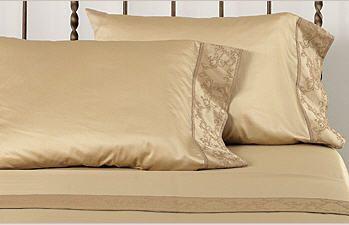 Italian Scroll Pattern Luxury Sheets & Bedding. de Medici Palazzo