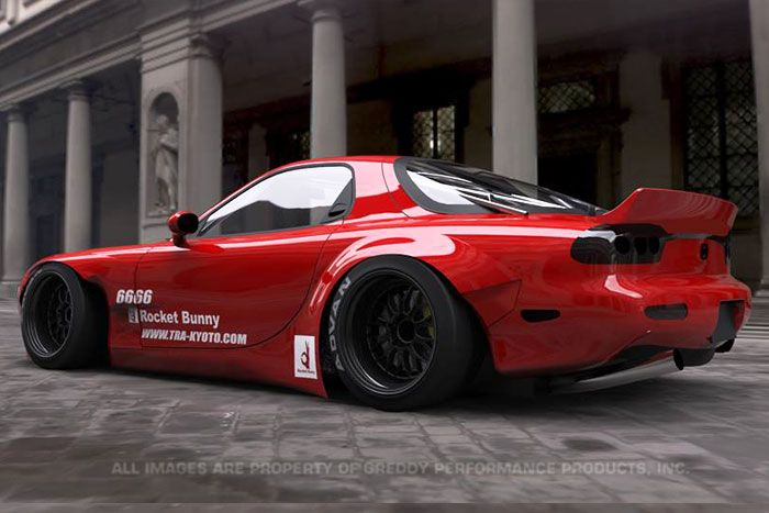 Mazda rx7 wide body kit submited images