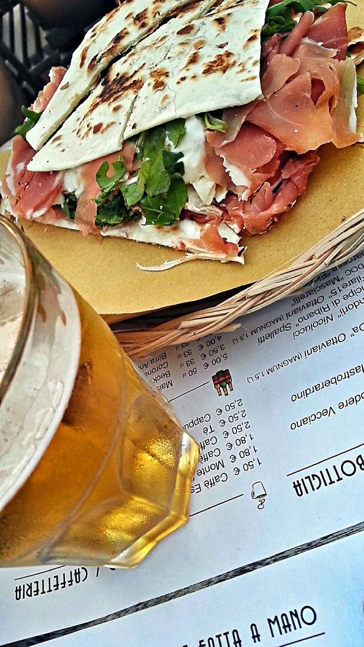 Twitter / @melvin: We start our #piadina #food tour in #Rimini, Italy... Yummy!