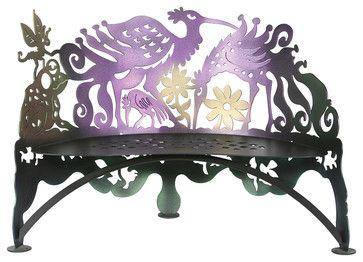 Bird Bench eclectic-outdoor-benches