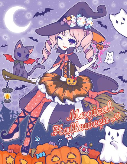 Resultado de imagem para mensagens de halloween anime