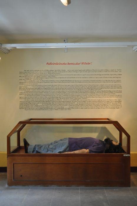 Pablo Escobar muerto en el Museo de la policía, Bogotá, Colombia