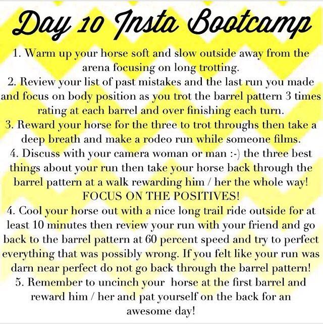 Fallin Taylor barrel boot camp day 10!